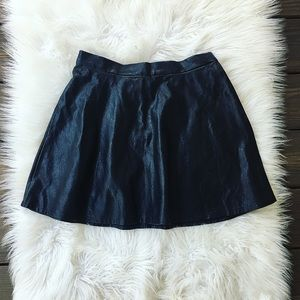 American Eagle Faux Leather Skirt